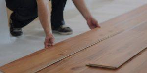 Installing laminate flooring in new home indoor
